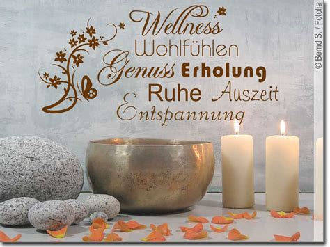 Und Wellness by Wandworte Wellness Ein Kunstvolles Wandtattoo F 252 Rs Bad