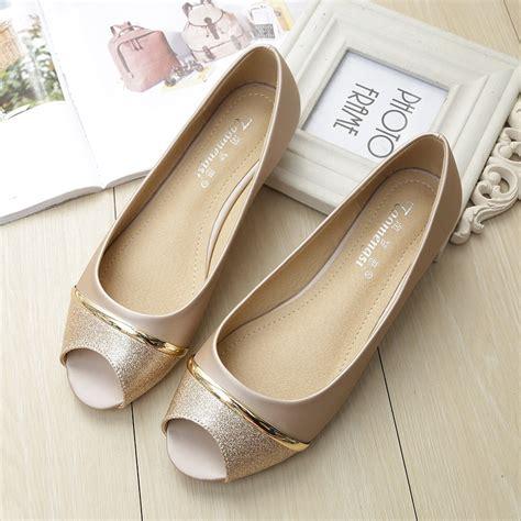 flats boat shoes woman comfortable peep toe soft sole