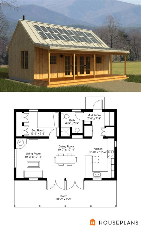 house plans cabin cabin style house plan 1 beds 1 baths 704 sq ft plan