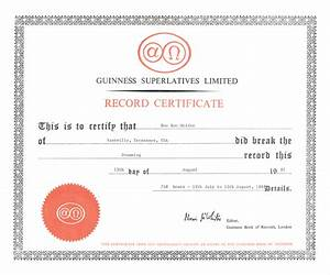 boomcafeecom author With guinness world record certificate template