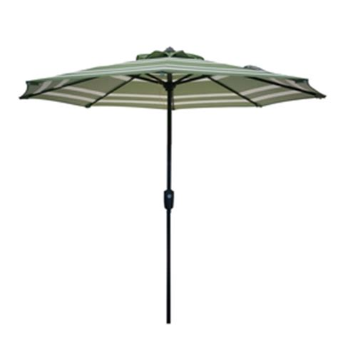 shop garden treasures green stripe patio umbrella