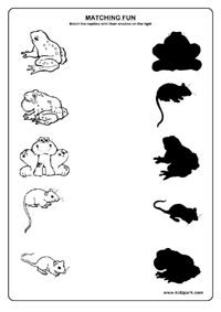 14 best images of preschool shadow matching worksheets