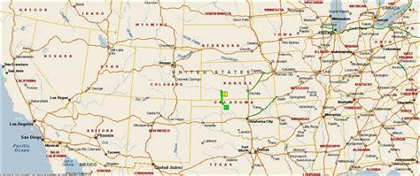 C Dodge Map by Roving Reports By Doug P 2012 16 Laverne Oklahoma To