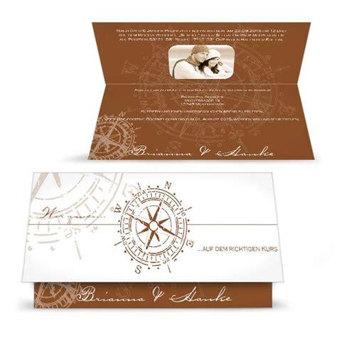 maritime einladung zur hochzeit mit antikem kompass