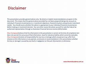 Property investing within a smsf for Property disclaimer template