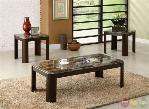 faux marble table l carson contemporary dark cherry accent tables with faux