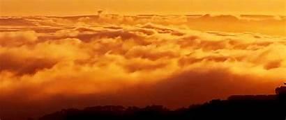 Giphy Sky Orange Aesthetic Rain Pretty Gifs