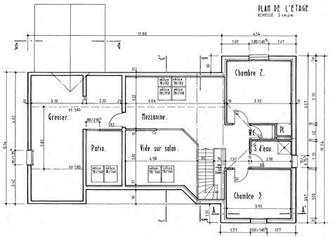 exemple de plan dune villa maison moderne