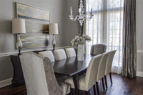 gray dining room transitional dining room ej interiors