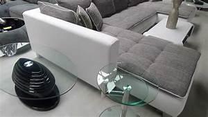 grand canape d39angle cado contemporain en simili cuir et With peindre canapé simili cuir