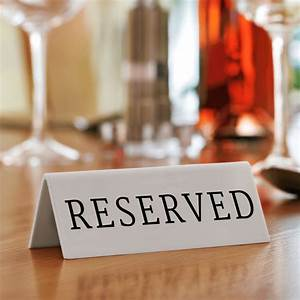 Reserved, Signs, For, Tables