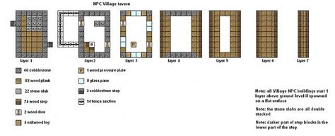 minecraft floor plans npc village buildings minecraft map