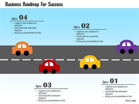 business roadmap  success flat powerpoint design