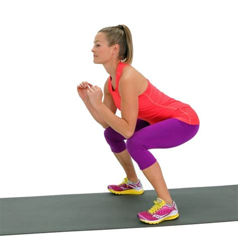 squat squats goblet workout thighs way tone fitness strip popsugar