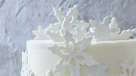 cake decorating ideas fondant snowflakes southern living