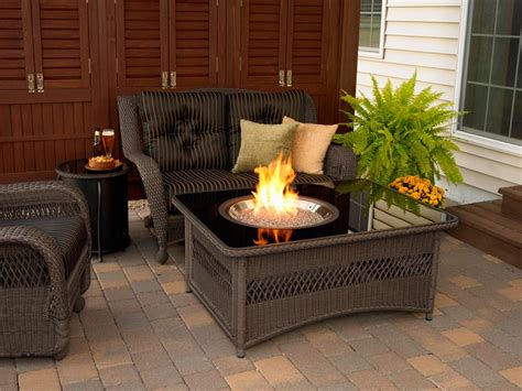 patio propane fire pit table patio table with propane fire pit fire pit design ideas