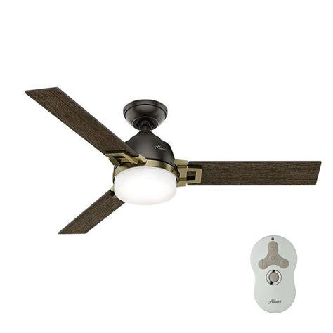 hunter universal ceiling fan hunter leoni 48 in led indoor noble bronze and modern