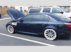 E60 M5 OEM 166 style wheels wrapped in Hankook V12