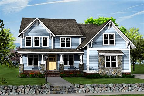 Two-story Craftsman House Plan With Optional Bonus Room