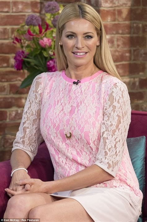 Pink Lace Tess Daly Dress on This Morning, 22 May   Spotted.TV