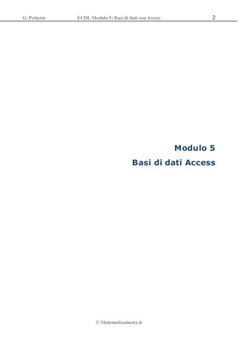 dispense ecdl modulo 2 ecdl modulo5