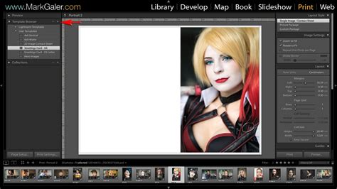 lightroom print templates  save contact sheet   mark galer
