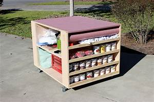 DIY Portable Workbench with Storage Free Plans
