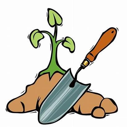 Clipart Garden Spade Shovel Gardener Clip Transparent