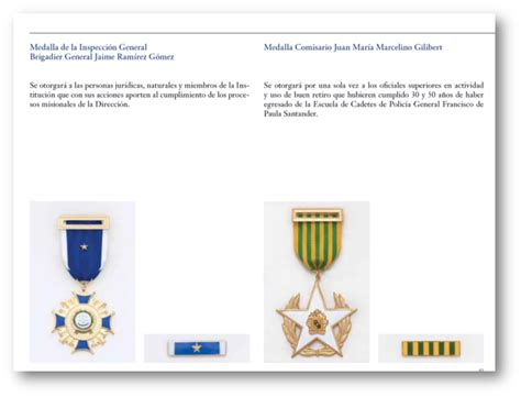 awards and decorations regulation momentos de historia de la polic 237 a nacional de colombia
