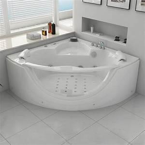 Baignoire 2 Places Balneo : baignoire baln o d 39 angle 2 places rio 2 baignoire baln o ~ Edinachiropracticcenter.com Idées de Décoration