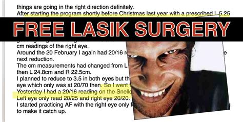 The lasik surgery or the laser eye surgery is done to overcome or correct the medical condition of eyes like hyperopia, myopia as well as astigmatism. How To Get Free LASIK Surgery - Insurance Company Pays 100%