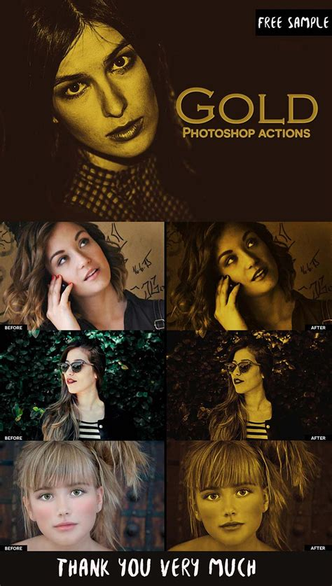 gold effect photoshop actions creativetacos