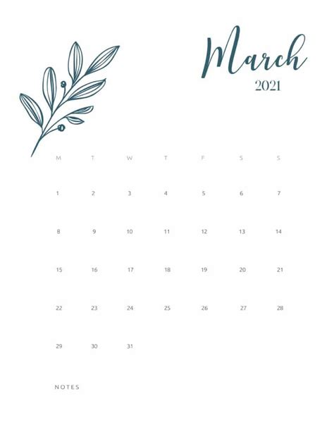 floral calendar   printable  world  printables