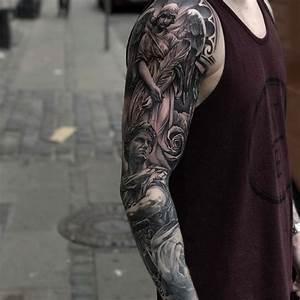 Tattoo Ganzer Arm Frau : 25 melhores ideias de tatuagem de anjo da guarda no pinterest tatuagem de beb anjo faltando ~ Frokenaadalensverden.com Haus und Dekorationen