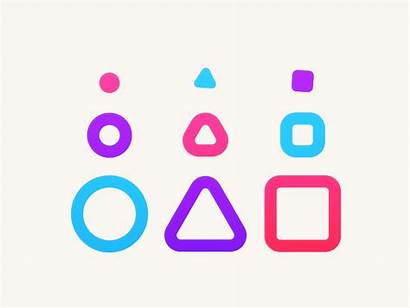 Shapes Dribbble Animation Lol 2d Icon Know