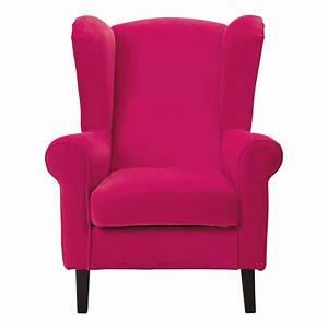 fauteuil enfant velours rose fuchsia velvet maisons du monde With fauteuil design rose