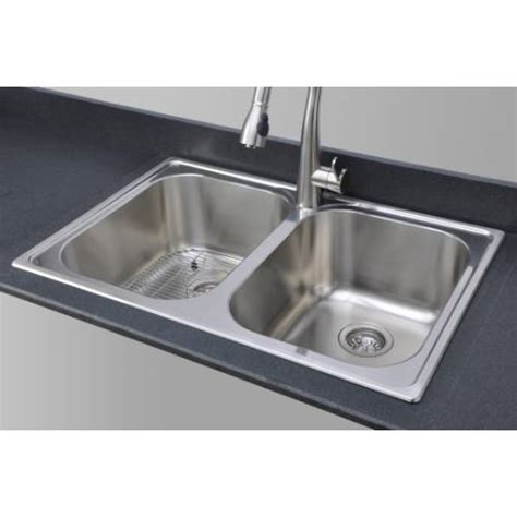kitchen sink packages sinkware 18 bowl topmount stainless 2810