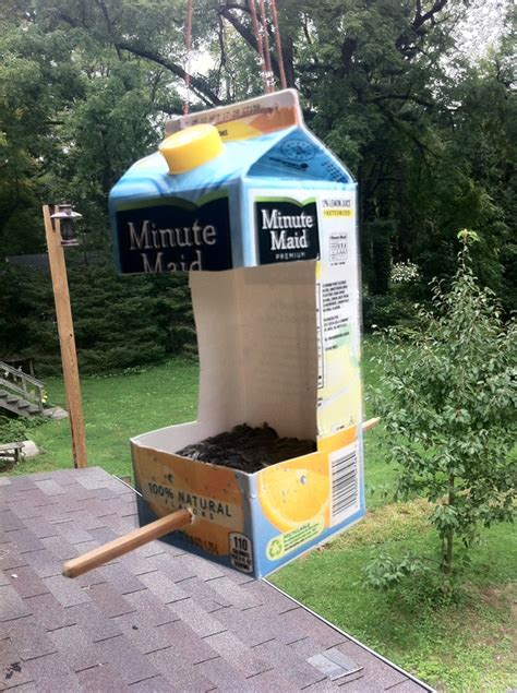 homemade bird feeder recycled diy pinterest