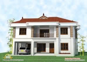 two story home plans 2 story house elevation 2743 sq ft kerala home design and floor plans