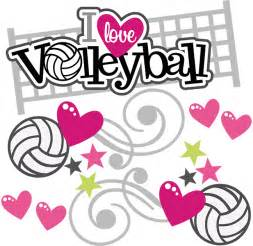 I Love Volleyball Clip Art