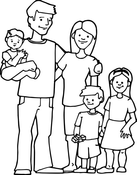 family kids coloring pagejpg  preschool