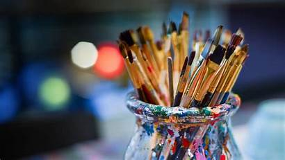 Paint Brushes Artistic Brush Background Stains Bank