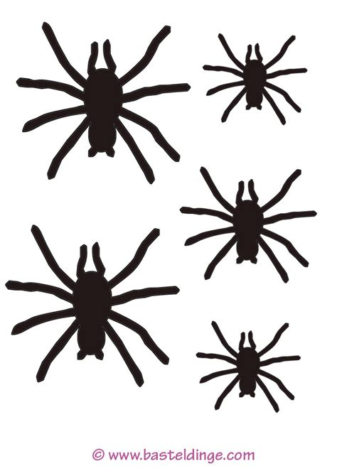 spinnen vorlagen basteldinge