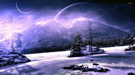 Anime Winter Scenery Wallpaper - winter scenery wallpaper wallpapers 25486