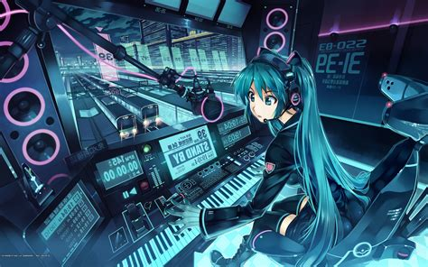 Anime School 3d Live Wallpaper - futuristic hatsune miku station vocaloid anime