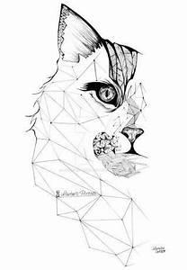 1000+ ideas about Geometric Cat Tattoo on Pinterest