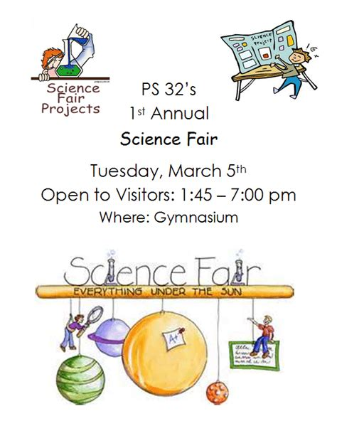 ps science fair tuesday march ps samuel mills