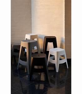 Bar Exterieur Design : tabouret de bar ext rieur design empilable en plastique gris wadiga ~ Melissatoandfro.com Idées de Décoration
