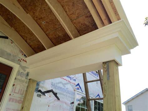 close   versatex pvc trim  portico diy front porch home exterior makeover flipping houses