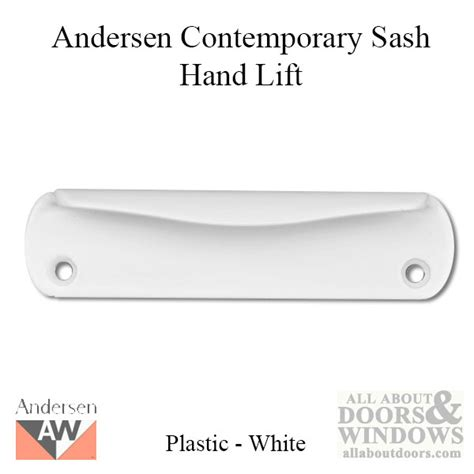 andersen contemporary hand lift  series plastic white
